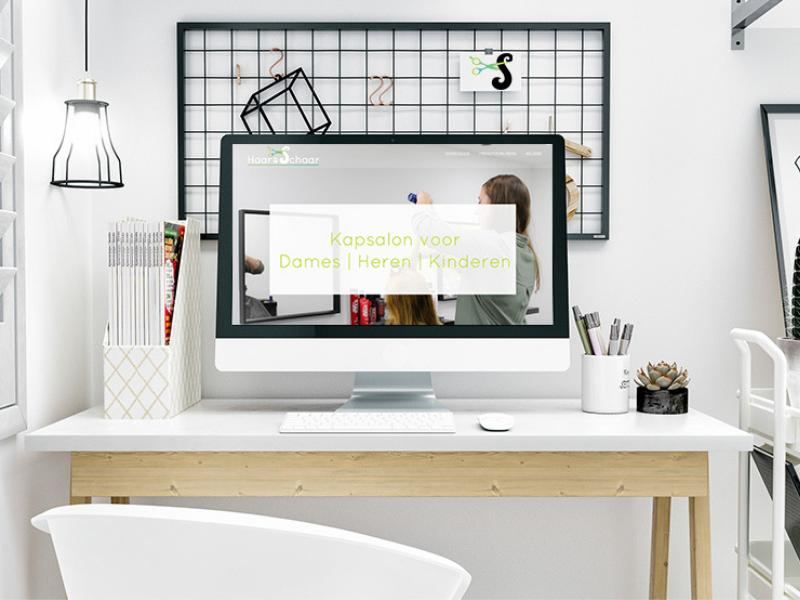 Een aantrekkelijke website voor Haar & Schaar in brunssum gemaakt door Mazgon Design