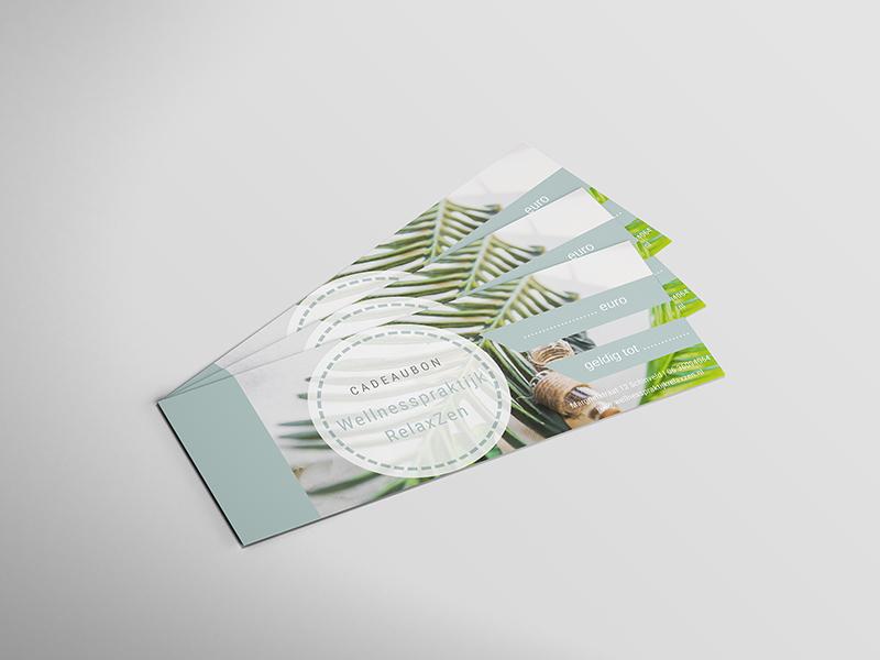 cadeaubon ontwerp door Mazgon Design