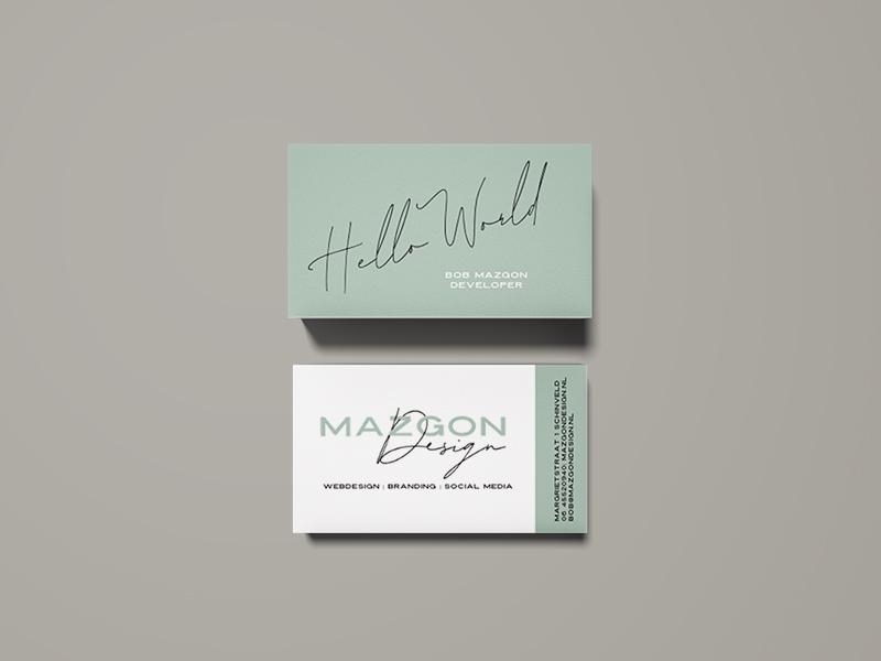 Visitekaartje Bob Mazgon